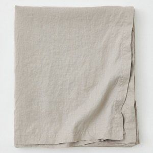 """H&M Home 100% Linen Table Cloth """"Light Taupe"""""""